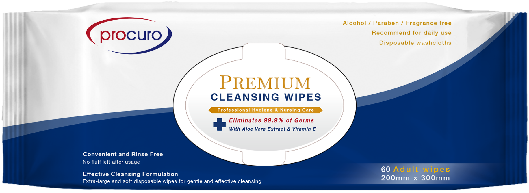 Something is. Disposable adult wipe